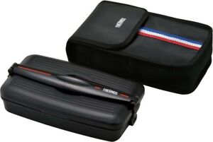 Thermos fresh lunch box 800ml stripe black DJB-804 STBK by ABS etc