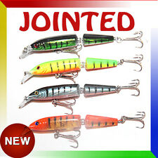 "4x 4"" Jointed Minnow Crank Trolling Bait Hardbody Fishing Lure Tuna Minnow Fish"