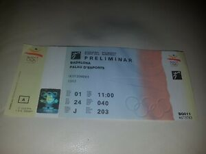 unused ticket women Olympic games 1992 Basketball spain v Czechoslovakia