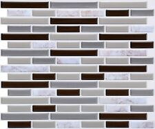 10-Pack Marble Gray Peel and Stick Backsplash,Mosaic Kitchen Backsplash Tile