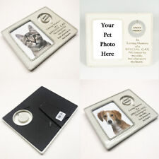 Personalised Sadly Missed Pet Memorial Photo Frame Plaque &Stand Any Dog Cat Pic