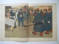 Original Feuille Revue JEUNESSE 1908-Evenepoel-Wilhelm Voigt (b441)