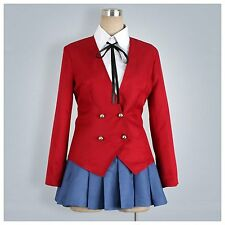 Anime Tiger Dragon Toradora Aisaka Taiga Cosplay Costume School Uniform