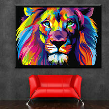 A1 A2 A3 A4 A5 Vintage Art Print Poster Wizards Of Oz Lion Courage
