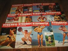 Lot Of 12 Strength & Health Bodybuilding Magazines/ 1954 COMPLETE YEAR