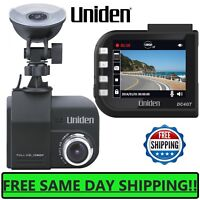 "Uniden 2.4"" HD Dash Cam Car 148 Wide HD Camera 1080p GPS Dashboard mount Loop SD"
