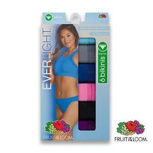 "Fruit of the Loom Women 6-Pk. Everlight breathable Bikini Pantie size 7 (40-41"")"