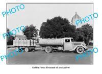 OLD 6 x 4 PHOTO GOLDEN FLEECE FIREZONED OIL TRUCK c1950