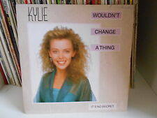 "KYLIE MINOGUE"" Wouldn't change a thing / It's no secret"" 7"" MADE IN U.K. PWL 42"