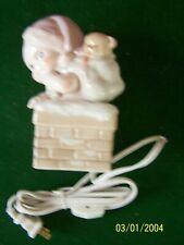 Enesco Kewpie cute baby w/santa hat & toys nursery nite light lamp