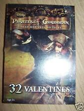 Box of 32 Disney Pirates of the Caribbean POTC Jack Valentine's Day Cards New