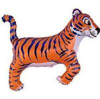"TIGER BLUE Stripes Striped Jungle ZOO Safari 36"" Party ANIMAL Mylar BALLOON"