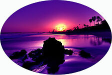 Motorhome RV Caravan Boat Decal Sticker, extra large 1200 x 800mm Purple Sunset