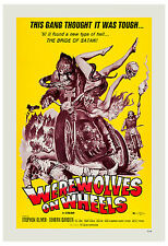 Horror  Outlaw Biker: * Werewolves on Wheels * Movie Poster 1971