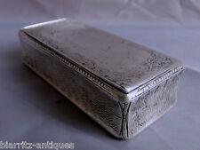 XIX° Boîte à priser rectangulaire, décor de La Cène (usures) 105 gr Minerve