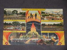 CHICAGO PARKS Lincoln Grant Washington Collectible ANTIQUE 1954 Postcard Card