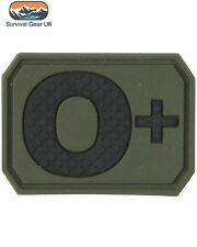 TACTICAL PVC O+ BLOOD GROUP PATCH ARMY MEDIC BAGDE MILITARY ARMY AIRSOFT