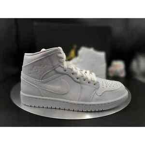 "Jordan Air Jordan 1 Mid ""Triple White"" Men's Size 10.5"