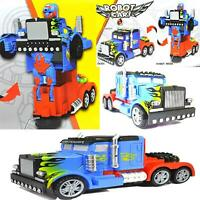 MONSTER TRUCK TRANSFORMERS ROBOT BUMP & GO CAR LIGHTS SOUNDS BOYS & GIRLS TOYS