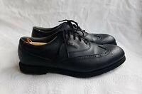 Footjoy Greenjoys Men's Black Changeable Studs Brogue Golf Shoes. UK 12M. US 13M