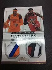 2012-13 National Treasures LeBron James Carmelo Anthony Match UP Sick Patch 4/10