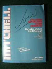 1987 July Mitchell Collision Estimating Guide Manual Chrysler Jeep Dodge Plym ++