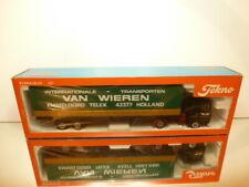TEKNO HOLLAND 421 SCANIA LB141 TRUCK + TRAILER van WIEREN - 1:50 - EXCELLENT IB