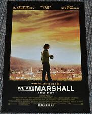 WE ARE MARSHALL 2006 ORIGINAL 11x17 MOVIE POSTER! MATTHEW McCONAUGHEY & FOOTBALL