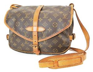 Authentic LOUIS VUITTON Saumur 30 Monogram Crossbody Shoulder Bag Purse #37487