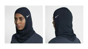 NIKE PRO Performance Hijab with Dri-Fit Technology For Women - Navy blue - XS/S