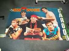 Men At Work CBS Records Canadian Promotional Poster for ''Cargo''