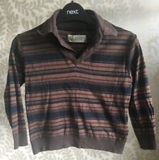 Ted Baker Teddy Boy Brown/Black Striped Cotton Jumper, Long Sleeved, Aged 4, VGC
