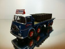 CORGI TOYS ERF KV FLAT BED TRUCK BASS WORTHINGTON - BLUE 1:50? - GOOD CONDITION