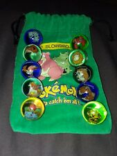Lot Of 10 Collectible Vintage  Pokemon Glass Shooter Marbles Bag #80 Slowbro