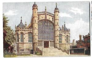 Artist Drawn Postcard J Salmon C T Howard 4179 St Georges Chapel Windsor Castle
