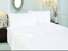 LOT of 12 NEW KING SIZE WHITE HOTEL FLAT SHEETS T-180