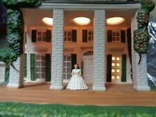 "1993 Gone With the Wind ""Tara"" Hawthorne Scarlett Ceramic Lighted House New"