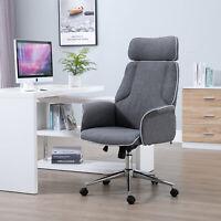 Swivel Ergonomic Adjustable PC Computer Task Office Chair Executive Grey Fabric