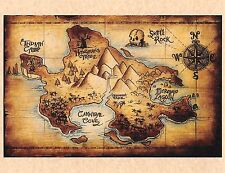 Disney Peter Pan Map Of Neverland >COLOR > Lost Boys > Skull Rock > Prop/Replica