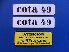 MONTESA  COTA 49,  CONJUNTO 3 LOGOS PARA DEPOSITO DE GASOLINA