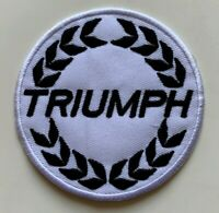 Triumph Super Motorcycle  - Embroidered  Iron on Sew on PATCH