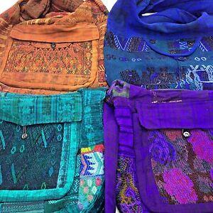 Artisan Boho Hippie Gypsy Cross Body Messenger Shoulder Bag Handmade Guatemala