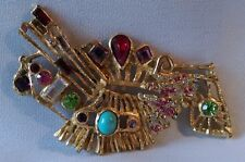 """RARISSIME BROCHE COUTURE """" BIRD """" signée CHRISTIAN LACROIX PARIS made in France"""