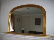 """ANTIQUE GOLD ARCHED OVERMANTLE MIRROR - Width 47"""" x Height 31"""" (120cm x 78cm)"""