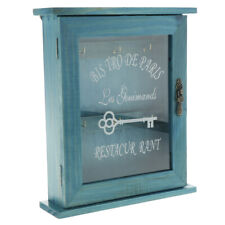 Vintage European Style Wooden Key Storage Cabinet Key Holder Box -Blue