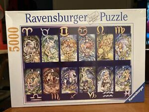 NEW SIGNS OF THE ZODIAC JIGSAW 5000 PIECE RAVENSBURGER JIGSAW PUZZLE