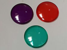 "3 Vintage Colored Pool Spa Light Cover Lens 1 3/4"" Round flash light end cap 4g5"