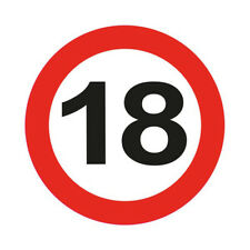 18TH BIRTHDAY PARTY GIANT 12CM FLASHING LED BADGE AGE TRAFFIC SIGNS