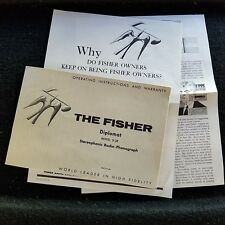 Fisher Diplomat Model D-38 Stereophonic Radio-Phonograph Operating Instructions!