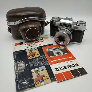 Zeiss Ikon Contaflex Kamera mit Tessar 2.8/50 Objektiv und Tasche Ungeprüft Rar